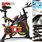 動感飛輪健身車(避震彈簧+皮帶傳動)競速...