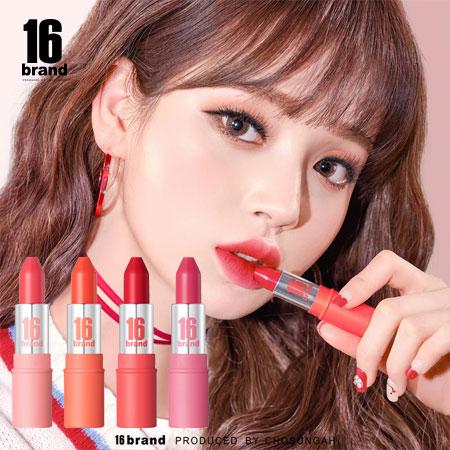 韓國 16 brand 彩虹糖子彈唇膏 3.4g 唇彩 唇膏 口紅 唇膏 彩虹糖唇膏 子彈唇膏 16brand