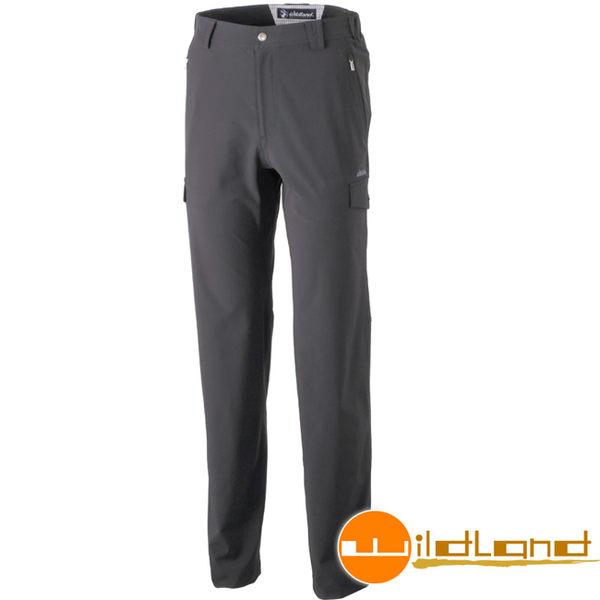 Wildland 荒野 0A31322-54黑色 男四向彈性貼袋抗UV長褲