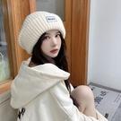 日系大頭圍寬鬆圓臉適合的毛線帽子女保暖針織帽網紅顯臉小堆堆帽 黛尼時尚精品