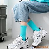 彩色襪子女純棉堆堆襪日系糖果色中筒襪秋冬百搭長襪【公主日記】