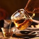 茶壺玻璃加厚耐熱耐高溫明火錘紋玻璃茶壺煮茶壺家用辦公花茶茶具【快速出貨】生活館
