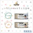 汪喵星球[肉蓉無膠主食貓罐,雞肉/虱目魚,80g,台灣製](單罐)