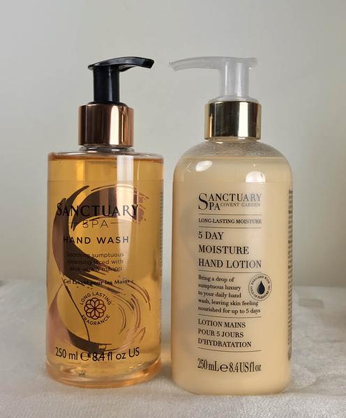 *禎的家* 英國 Sanctuary 聖活泉 SPA 高效保濕洗手護手組 250ml 壓頭瓶好用
