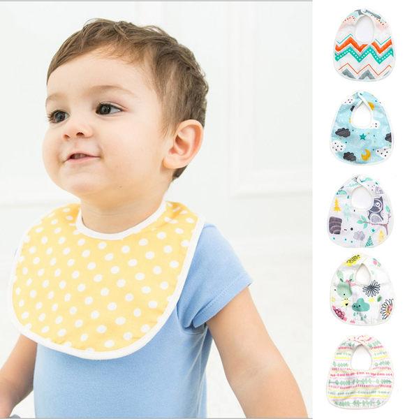 6層棉質圍兜 嬰幼兒 環保印花 防髒 男寶寶 女寶寶 Augelute Baby 60369