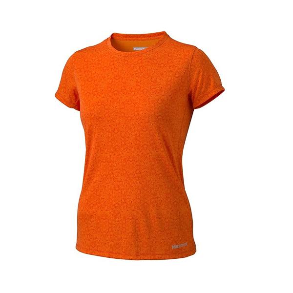 [Marmot] Cascade (女) 防曬排汗短袖上衣 橘紋 (M65830-8503)