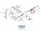 【麗室衛浴】德國 GROHE Grohtherm 2000 附牆定溫淋浴龍頭軸心 12433