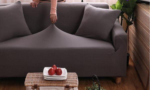 沙發套全包萬能套罩宜家純色加厚組合三人防滑四季彈力皮套沙發罩 晴川生活館