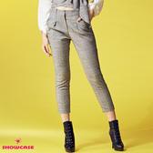 【SHOWCASE】氣質英倫格紋修身窄管七分西裝褲(灰)