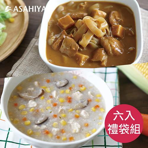 【旭家蒟蒻】好食光-咖哩嫩雞蒟蒻河粉x3+金黃蒟蒻晶米x3