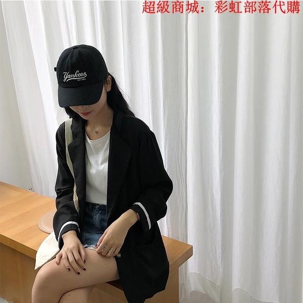 胖mm200斤韓版休閑小西裝外套女春季特大碼200斤時尚港味顯瘦西服 中大碼女裝 大尺碼女裝