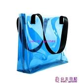 透明包包女潮女包旅行袋定制logo韓版夏天百搭單肩側背果凍包品牌【公主日記】