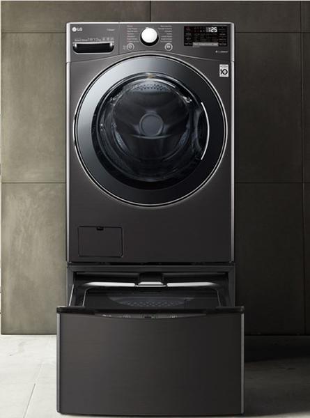 *****東洋數位家電***** LG WD-S19VBS twinwash WiFi滾筒洗衣機(蒸洗脫烘) 尊爵黑 / 19公斤+2.5