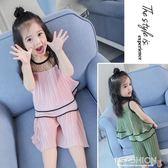 女童夏裝套裝2018新款兒童2寶寶夏季5洋氣闊腿褲雪紡兩件套3歲4潮-Ifashion