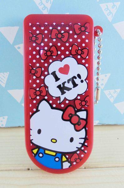 【震撼精品百貨】Hello Kitty 凱蒂貓~KITTY衣刷附鏡-紅點
