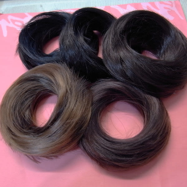 魔髮樂 韓國假髮 甜甜圈髮束 鬆軟丸子頭 輕鬆綁包頭 E 五色