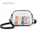 斜背包-可愛貓咪斑馬塗鴉女百搭小方包 (SBA0243) AngelNaNa