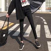 黑色牛仔褲女2021秋裝高腰新款韓版顯瘦百搭緊身九分小腳鉛筆褲子 米娜小鋪