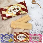 韓國 CROWN 巧克力榛果醬/奶油榛果 威化條(142g) 【庫奇小舖】