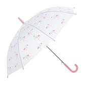 樂嫚妮 自動開直立雨傘-火烈鳥-超值2入火烈鳥-粉/綠