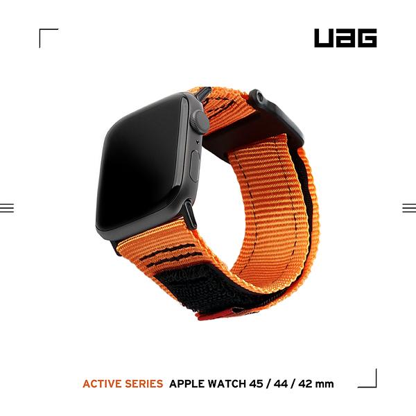 UAG Apple Watch 42/44/45mm 時尚尼龍錶帶-橘