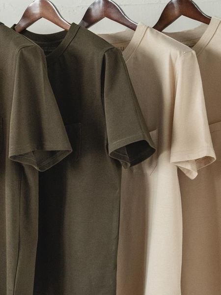 馬登工裝 美式復古三本針口袋t恤阿美咔嘰純棉半袖重磅硬漢短袖男 黛尼時尚精品