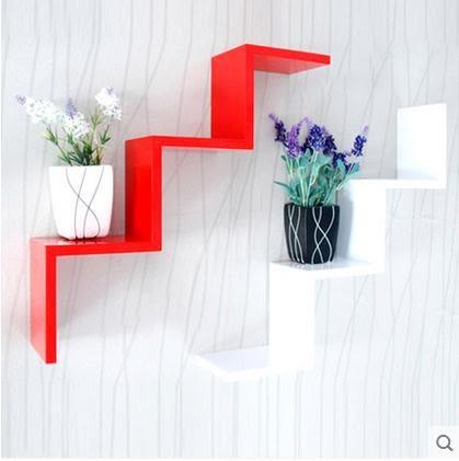墻上置物架 創意隔板擱板墻上置物架墻面墻壁書架客廳臥室壁掛電視背景墻裝飾