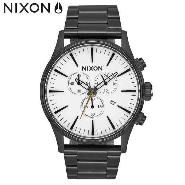 NIXON 手錶 原廠總代理 A386-756 Sentry Chrono 潮流時尚鋼錶帶 男女適用 運動 生日 情人節禮物