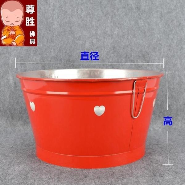 紅色化金燒寶桶聚寶盆元寶燒金桶