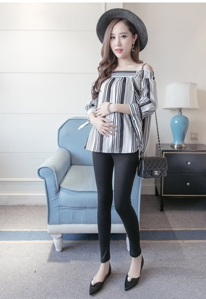 漂亮小媽咪 托腹內搭褲 【L3121】 磨毛 超彈 加大 尺碼 孕婦內搭褲 保暖托腹褲 可調式腰圍