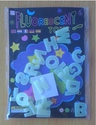 26英文字母 夜光牆貼 螢光貼紙 立體牆貼 幼兒早教─預購CH815