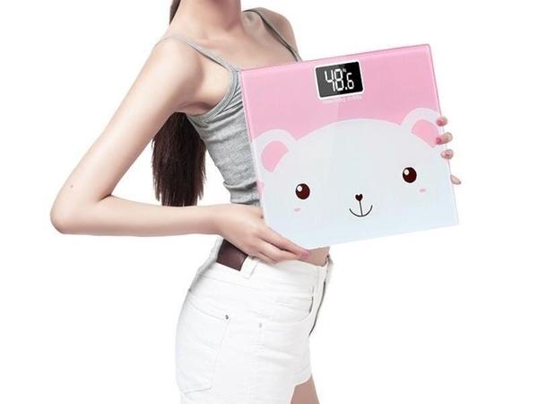 【體重計】加大款 可愛卡通夜視版 強化安全玻璃公斤KG.磅LB 180KG電子體重秤 4號電池人體秤