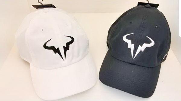 NIKE 聯名款帽子 ADULT UNISEX 網球帽 運動帽 電繡 可調整式 網球名將 納達爾-2色