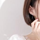 新款上架 s925銀星星圓珠流蘇耳釘簡約個性時尚設計感耳墜清韓國氣質耳環女