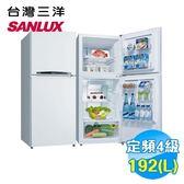 台灣三洋 SANLUX 192公升雙門電冰箱 SR-B192B