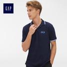 Gap男裝 Logo雅致風格短袖Polo衫 440725-海