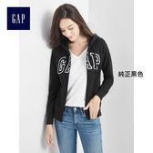 Gap女裝 Logo系列可選色活力連帽長袖休閒外套 多色可選 639910-純正黑色