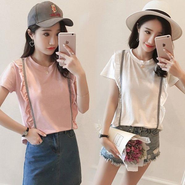 FINDSENSE G5 韓國時尚 純棉 T恤 短袖 寬鬆 半袖 上衣 學生 百搭 打底衫