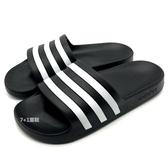 《7+1童鞋》ADIDAS ADILETTE AQUA 超輕量防水運動拖鞋  7372  黑色