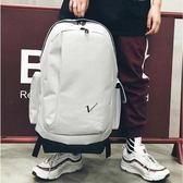 大容量新款雙肩包校園學生包包書包韓版戶外旅行包男女運動背包潮  後街五號