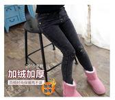 兒童褲子女童牛仔褲加絨加厚冬季韓版小腳褲中大童長褲彈力修身潮