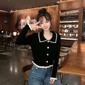 秋季新款2019韓版寬鬆長袖洋氣百搭針織衫女短款開衫秋裝上衣外套