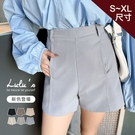 LULUS特價【A04200169】M自訂款車線高腰後拉鍊短褲S-XL6色