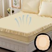 純棉花邊床笠單件全棉床罩防滑床套保護套1.8米 聖誕裝飾8折
