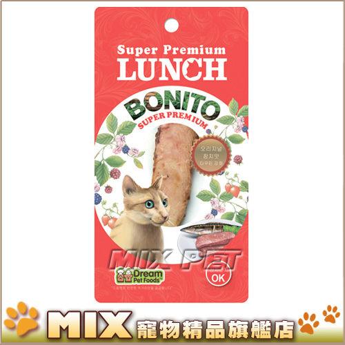 ◆MIX米克斯◆LUNCH鮪魚條,原味/柴魚/雞肉三種口味,添加牛磺酸,貓零食