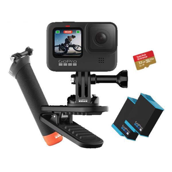 【6期0利率】GoPro HERO9 Black 套裝 含32G+漂浮手把+2顆電池+旋轉夾 台閔公司貨 運動攝影機