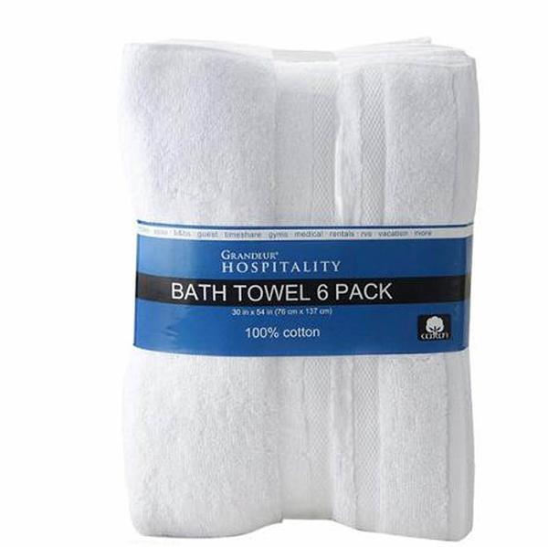 [COSCO代購] C1176954 Grandeur 商用純棉大浴巾 76 x 137公分 6入組