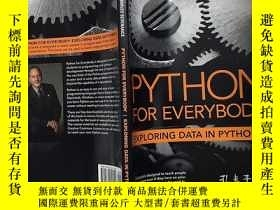 二手書博民逛書店Python罕見for Everybody Exploring Data in Python 3 英文原版Y2