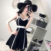 夜店女裝新款性感吊帶無袖露肩低胸修身拼色針織高腰連身裙子 范思蓮恩