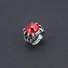 惡魔之眼朋克開口戒指男霸氣潮人單身學生復古飾品個性龍爪食指環-Ifashion